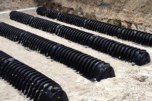 new drain field system installation